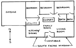 Figure 1: Floor Plan For An STS Home.