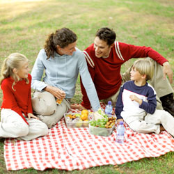 Family on a picnic.