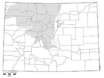 Wyoming ground squirrel distribution