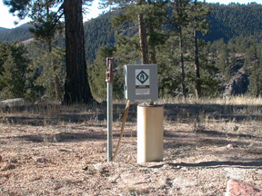 private well in the foothills