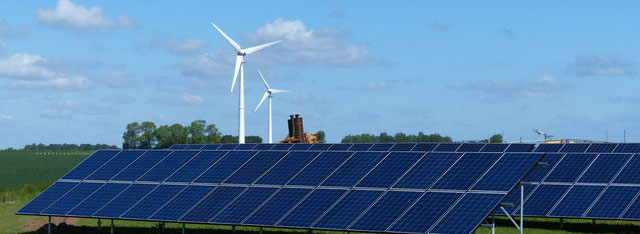Energy Webinars - picture of solar and wind energy