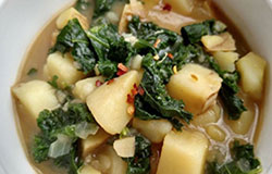 Potato Kale Soup with Red Chile