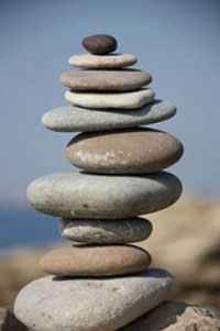 Balanced stacked stones