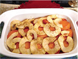 picture of baked apples and sweet potatoes
