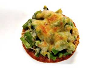 picture of asparagus mushroom melts