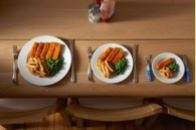 Food plate sizes and servings