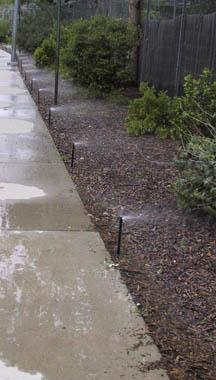 sprinkler runoff