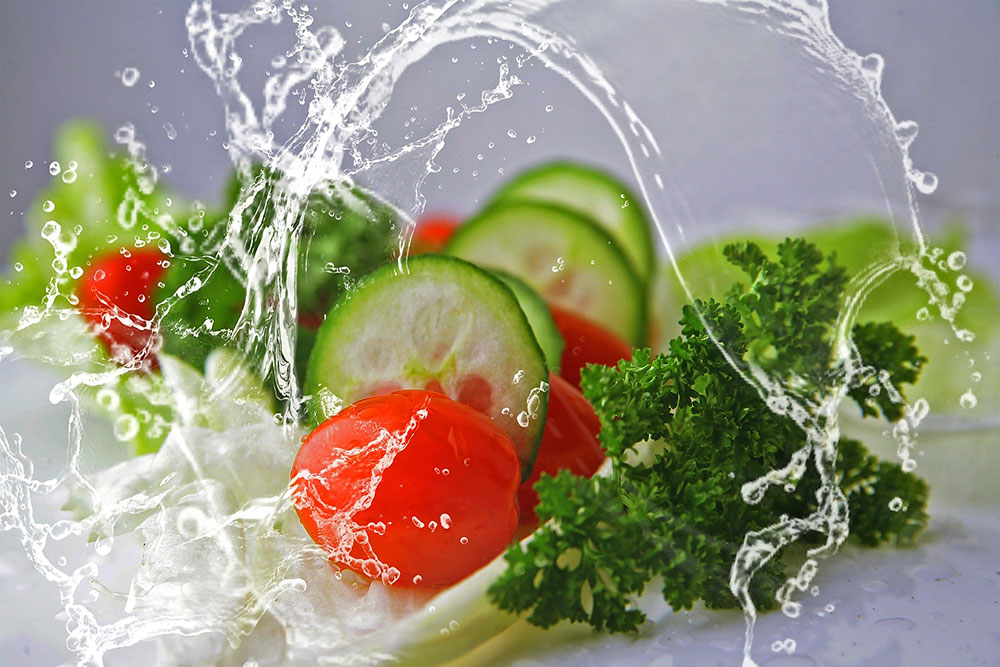 Vegetables and Water