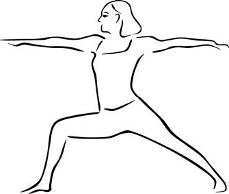 example of yoga warrior pose