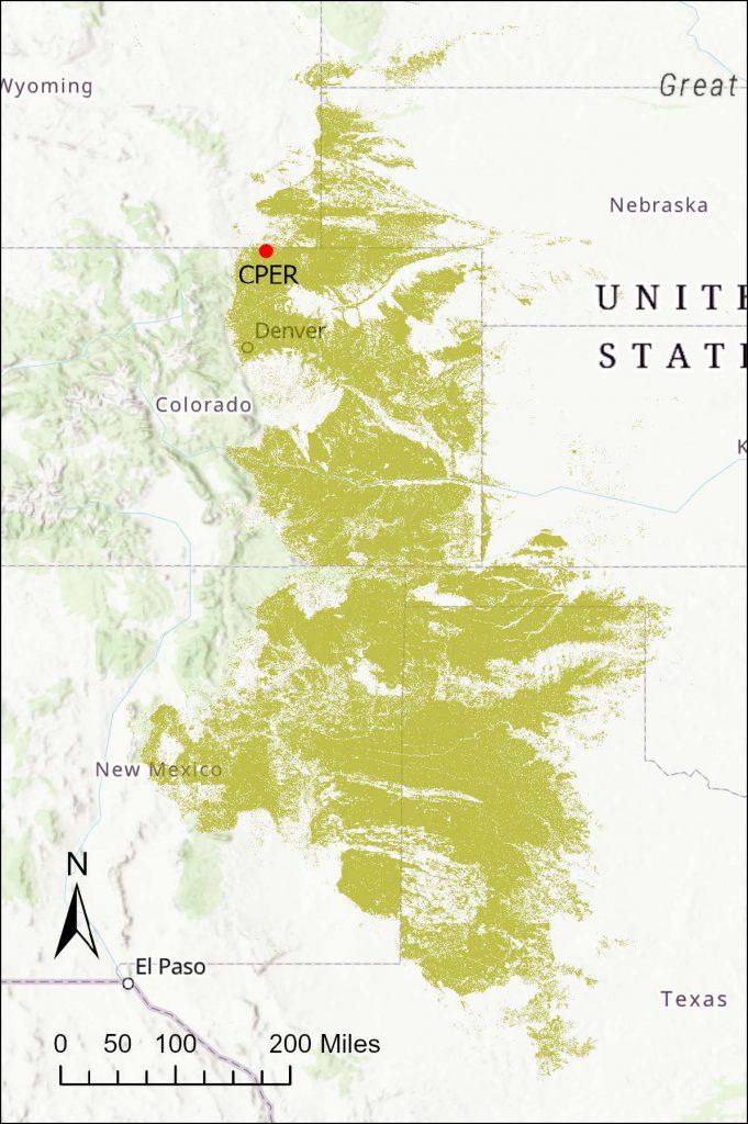 CPER Location & Extent of Shortgrass Steppe